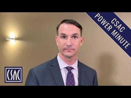 CSAC Power Minute: Graham Knaus Discusses the Governor's 2019-20 State Budget Proposal
