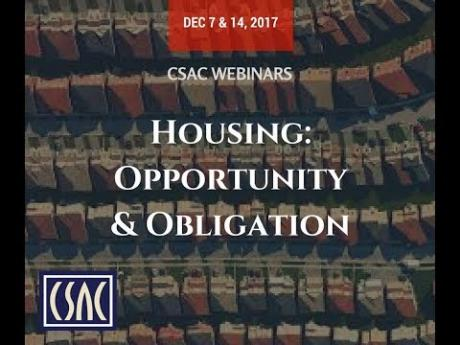 CSAC Webinar – Opportunity: New Funding for Affordable Homes – December 7, 2017