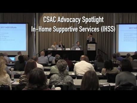 2017 CSAC Advocacy Spotlight: In-Home Supportive Services (IHSS)