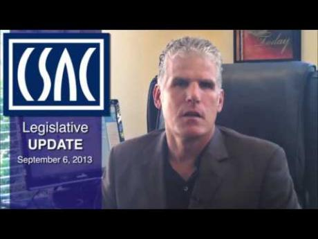 CSAC Legislative Update with Matt Cate (Sept. 6, 2013)