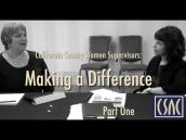 California County Women Supervisors Making a Difference Part 1