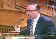 "Image of Yolo Supervisor Testifies on ""No Place Like Home"" Proposal"