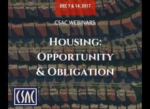 CSAC Webinar – Obligation: New Local Planning Requirements – December 14, 2017
