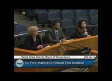 CSAC's Amalia Mejia presents to Santa Clara County Board of Supervisors on Results First Initiative, August 16, 2016