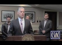 Matt Cate speaks at the Cannabis Banking Working Group press conference