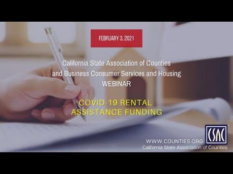 CSAC Webinar: COVID-19 Rental Assistance Funding — February 3, 2021