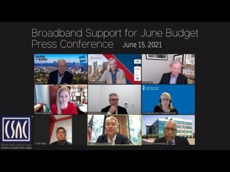 Broadband Support for June Budget Press Conference — June 15, 2021