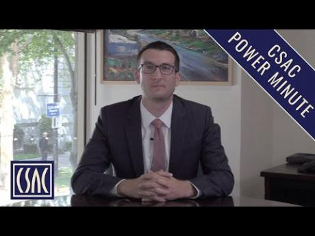 CSAC Power Minute: 2019-20 Budget and Homelessness