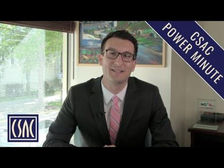 CSAC Power Minute: Governor Newsom's Budget May Revise