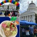 Summer Meals Event at California State Capitol included sample meal with foods from all five food groups