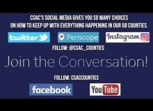 Join the Conversation! Follow CSAC's #SocialMedia